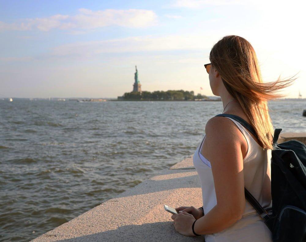 io che guardo la Statua della Libertà da Ellis Island