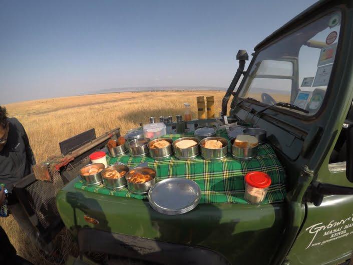 pranzo sulla jeep