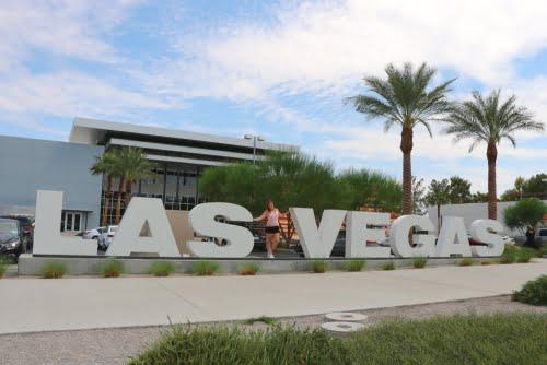 scritta bianca Las Vegas